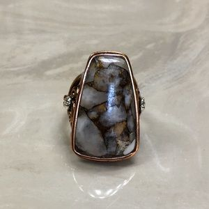 Studio Barse copper and sterling ring size 7.75